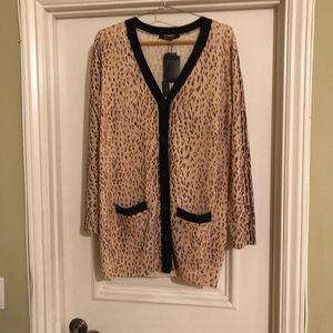 Rachel Roy Leopard colored cardigan.